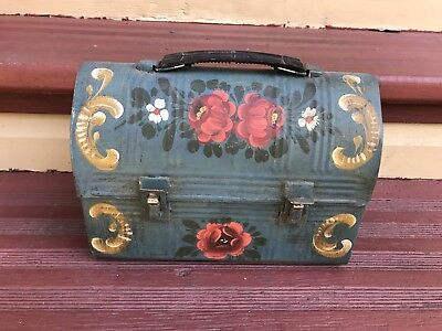 Vintage Tole Painted Lunch Box