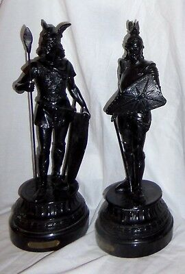 Pair Of Neoclassical Warriors Marked Seigfried