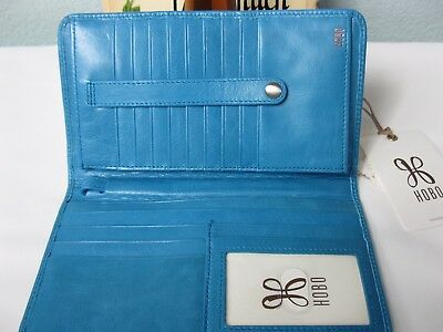 "Nwt Hobo International ""Danette"" Leather Wristlet Wallet – Color: Capri Blue"