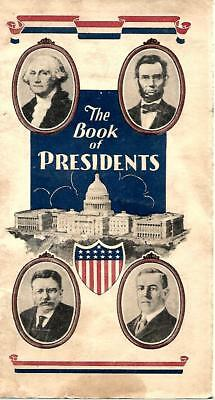 AMOCO, Book of Presidents give away from 1932 Pamphlet