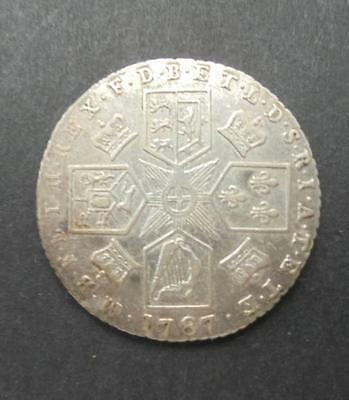 Great Britain 1787 King George III Silver Sixpence Coin Very High Grade