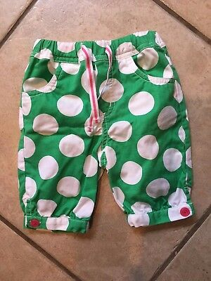 Mini Boden Baby Boden Girls Pants Green/ Pink With Polka Dots 3-6 Months EUC