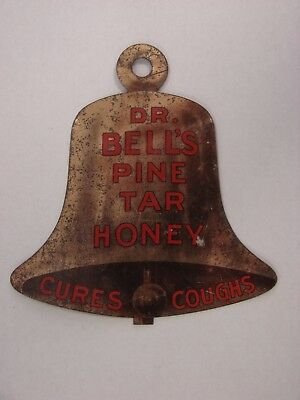 "c1910 Dr. Bell's Pine Tar Honey Double Sided Advertising ""Cures Coughs"""