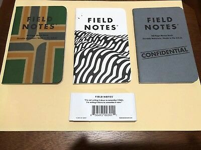Field Notes mixed pack: XOXO, Loot Crate Confidential, Portland