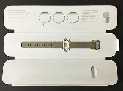 Genuine Apple Watch Woven Nylon Band 38mm Yellow/Light Gray - VG - In Box