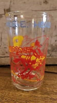 Vintage 1974 WILE E.HEADS FOR A BIG FINISH Warner Bros. Welch's Jelly Jar Glass