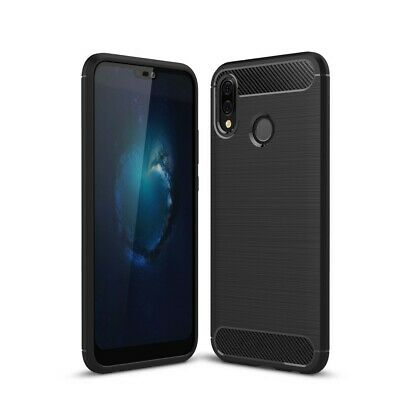 CoverKingz Huawei P20 Lite Hülle Premium Carbon Brushed Cover Soft-Case