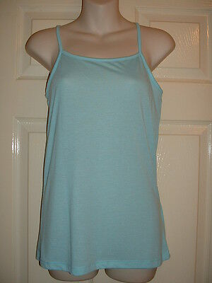 Ladies  / Girls Lovely Light Turquoise Cami Style Womans Top Size 10  New