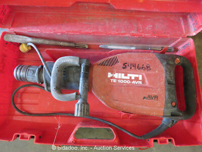 Hilti TE-1000 AVR Electric Demolition Jack Hammer Demo Breaker w/Case bidadoo