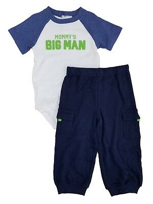 Carters Infant Boys 2pc Handsome Like Daddy Bodysuit /& Pants Set Sz 6M 12M