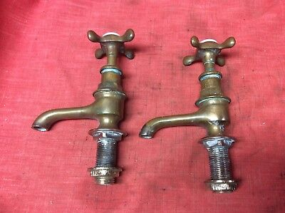 Vintage Hot And Cold Water Brass Faucets  Bathroom Sink Faucet Antique