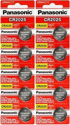 10 x Fresh PANASONIC CR 2025 CR2025 ECR2025 LITHIUM COIN CELL Battery Exp 2028