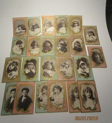 Lion Coffee Trade Cards  Lot of 20 Child Portraits  All Different Dated 1896