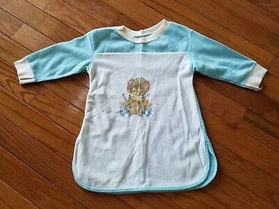 Vintage Baby Girl Mouse Nightgown Size 12 Months