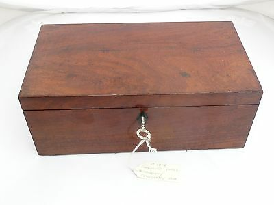 Superb Antique Flame Mahogany Victorian Jewellery Box With Fitted Tray C1875