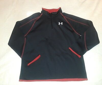 ~ Under Armour Boy's pullover Sweatshirt Black size YLG youth larg