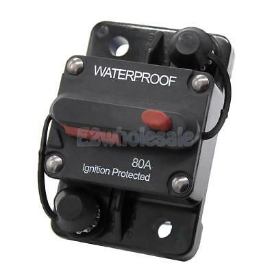 12V-48V Car Marine Waterproof 80A Switchable Surface Mount Circuit Breaker