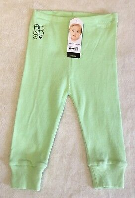 BONDS Baby Ribbies Leggings, Lime, Size 1, New With Tags!!