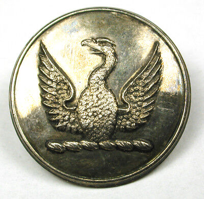 """Antique Silver Livery Button - Eagle w/ Wings Spread Image - 1"""" -Hayward"""