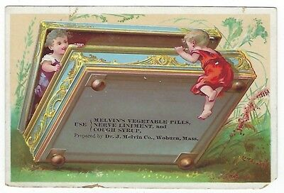Melvin's Vegetable Pills late 1800's medicine trade card #C