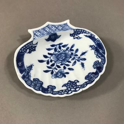 18th c. Chinese Export Blue and White Porcelain Shell-Shaped Dish