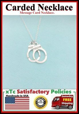 BF Gift; Handcrafted Partner in Crimes Handcuff Charm Necklace.