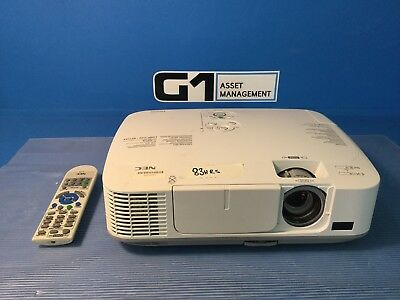 Nec NP-M300X Projector 3000 Lumens 1080i HDMI Input Very Low Use (A2)