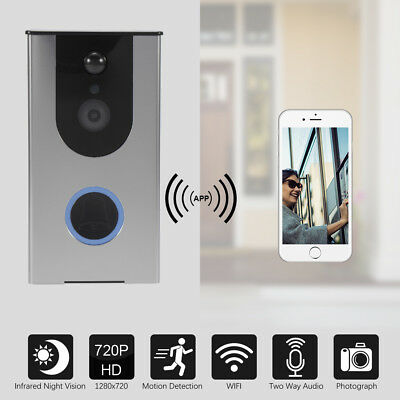 Wifi Video Audio Doorbell Wireless Camera Smart Door Bell for Android IOS AH378