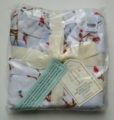 Pottery Barn Kids Rudolph the Red-Nosed Reindeer Pajamas Size 6 Boys Girls
