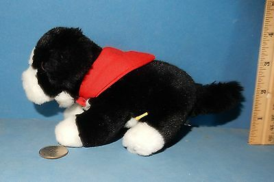 """RARE BUILD A BEAR BORDER COLLIE  8"""" LONG PUPPY dog magnetic scarf"""