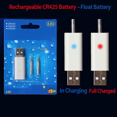 Lightweight Rechargeable CR425 Battery Fishing Float Battery USB Fast Charge