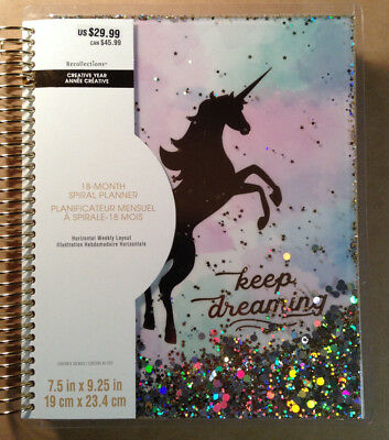 """NEW! 2018-2019 Creative Year """"UNICORN"""" Spiral 18-Month Planner by Recollections"""