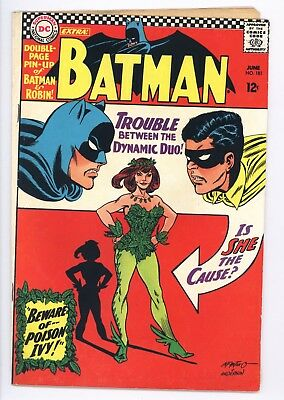 Batman #181 Vol 1 Super High Grade 1st App of Poison Ivy Complete With Pin-Up