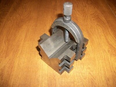 Brown & Sharpe Machinist V-Block With Clamp L@@K No Reserve Toolmakers L@@K.....