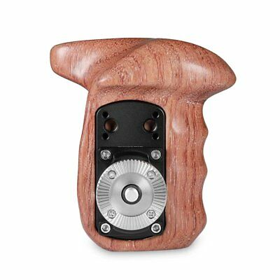 SmallRig Wooden Handle Grip with ARRI Style RosetteLeft Side for Camera Cages