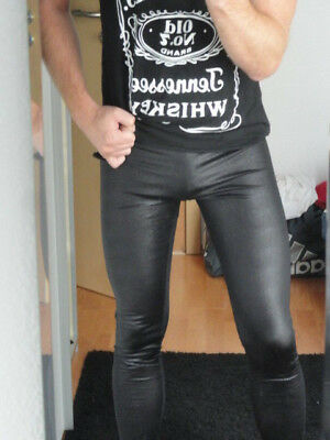 geniale Reptiloptik Glanz Leggings Meggings Lauftight Gay CSD Drag Fetish, Gr. S