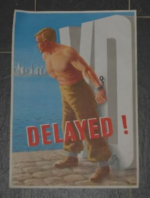 Original US Army WWII VD Poster Delayed Schiffers Franz O. 1946