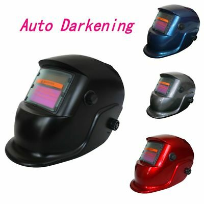 Leopard Auto Darkening Welding Helmet Mask Welders Grinding Solar Power UK