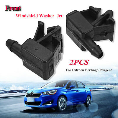 Pair Car Front Windscreen Washer Jet Spray Nozzle Kit For Citroen Peugeot 6438Z7