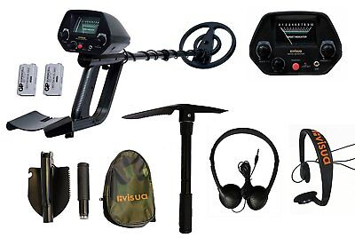 Visua Discriminating Metal Detector with built in Pinpoint function Waterproof