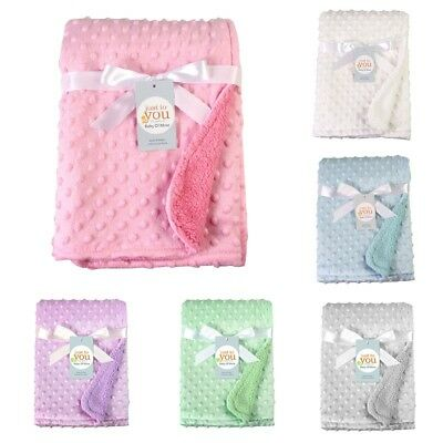 Newborn Infant Baby Plush Swaddle Pram Cot Bed Basket Sleeping Bag Wrap Blanket