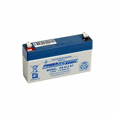 Power Sonic 6V 1.3AH Rechargeable IBT BT1.3-6, 6 volt replacement sealed