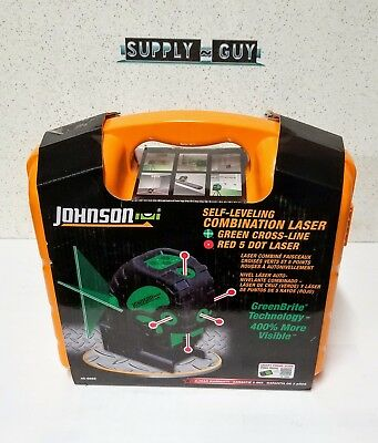 Johnson Self Leveling Combination Laser Kit with GreenBrite Technology BRAND NEW