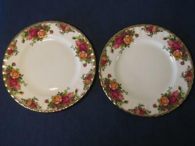 """2 Royal Albert Old Country Roses Side Plates 8"""""""