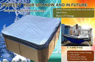 Hot Tub Spa Cover Cap Waterproof Protector Fabric 200x*200*30cm,fits jacuzzi