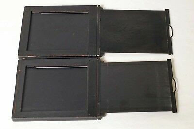 F8617~ Two Matched Graflex 4X5 Slotted Cut Film Holders – Clean and Complete