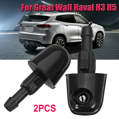 2x Windshield Wiper Spray Jet Washer Nozzle For Great Wall Haval H3 H5 Black New