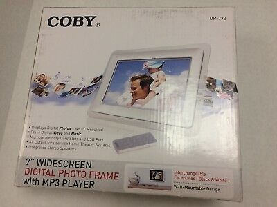 Coby 7 Widescreen Digital Photo Frame With Mp3 Player Dp 772