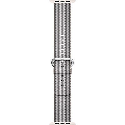 Genuine Apple Woven Nylon Band for Apple Watch 38mm (Pearl) - VG - No Box