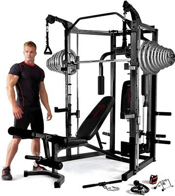 Marcy Eclipse RS7000 Deluxe Smith Machine Home Gym & 140kg Olympic Weight Set